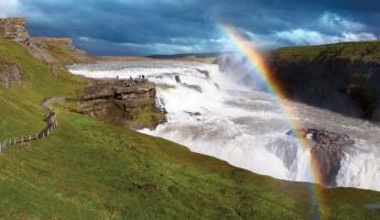 Visit beautiful Gullfoss waterfall in Iceland.