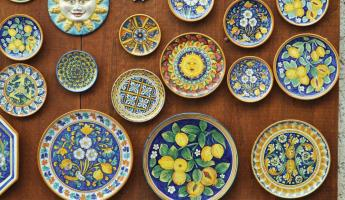 Pottery unique to Sicily.