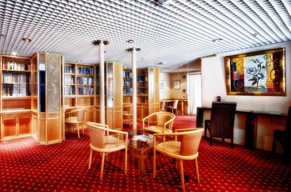 Enjoy a book in the library aboard the Ocean Diamond.