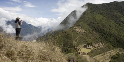 Take in the views of Choquequirao as you hike Peru