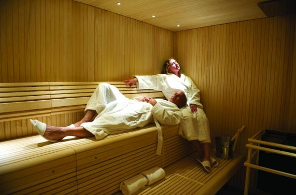 Relax in the luxurious sauna aboard the National Geographic Explorer.