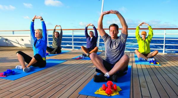 Experience yoga classes aboard the National Geographic Explorer.