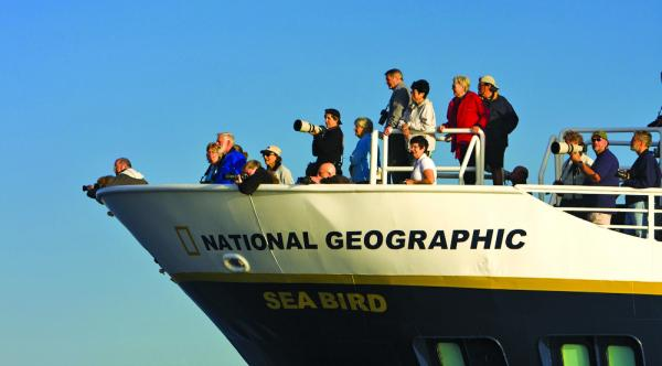 Guests viewing off the bow of the Sea Bird & Sea Lion.