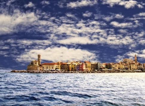 A coastal town on the Adriatic Sea