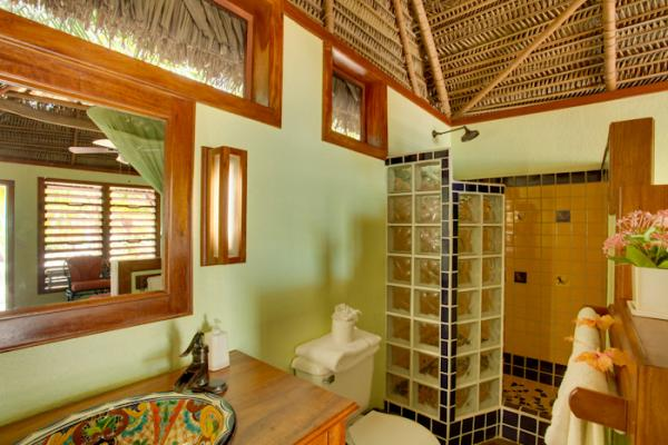 Your spacious bathroom at Singing Sands Resort