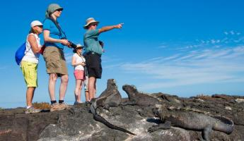 Group of travelers exploring the Galapagos.