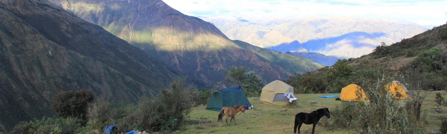 Camping on the Choquequirao trek