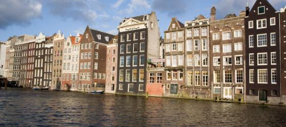 The beautiful buildings of Amsterdam