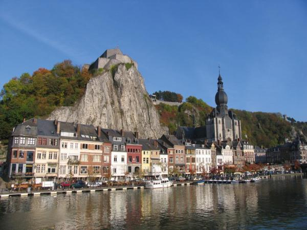 Pass small villages as you sail through Belgium