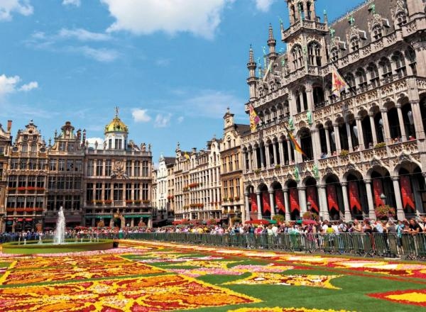 A vibrant and beautiful square in Holland