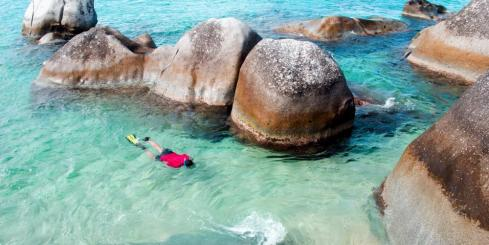 Snorkel in the Baths of the Virgin Islands