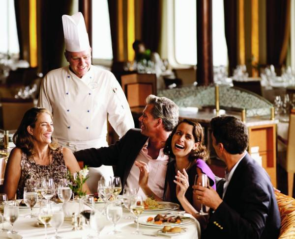 Enjoy fine dining aboard the Silver Discoverer on your Asia Pacific cruise