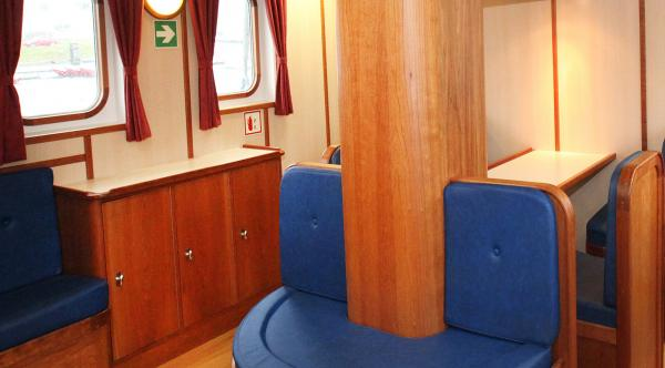 Lounge area aboard the Rembrandt van Rijn.