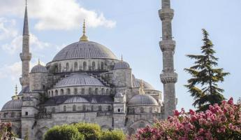 Exterior image of the Blue Mosque.