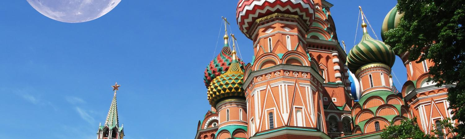 St. Basil's Cathedral in the Red Square of Moscow.