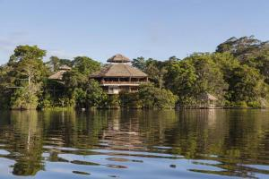 The La Selva Ecolodge rests on the Napo River