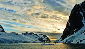 A beautiful sunset in Antarctica.