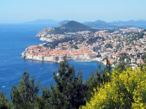 View of Dubrovnik from the hills behind the city.
