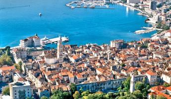 The city of Split in Croatia.