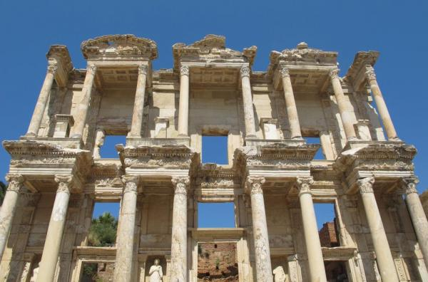 The ancient city of Ephesus.