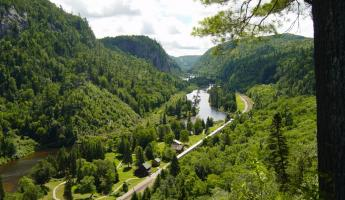 View of the incredible Agawa Canyon.