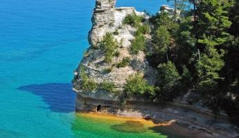 Miners' Castle in the Pictured Rocks National Lakeshore.