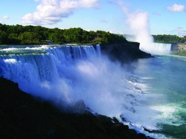 Enjoy the beauty of Niagara Falls.