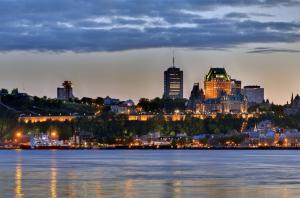 Quebec at sunset.