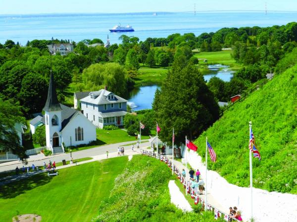 Mackinac Island located in Lake Huron.