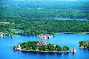 Boldt Castle located on Heart Island.