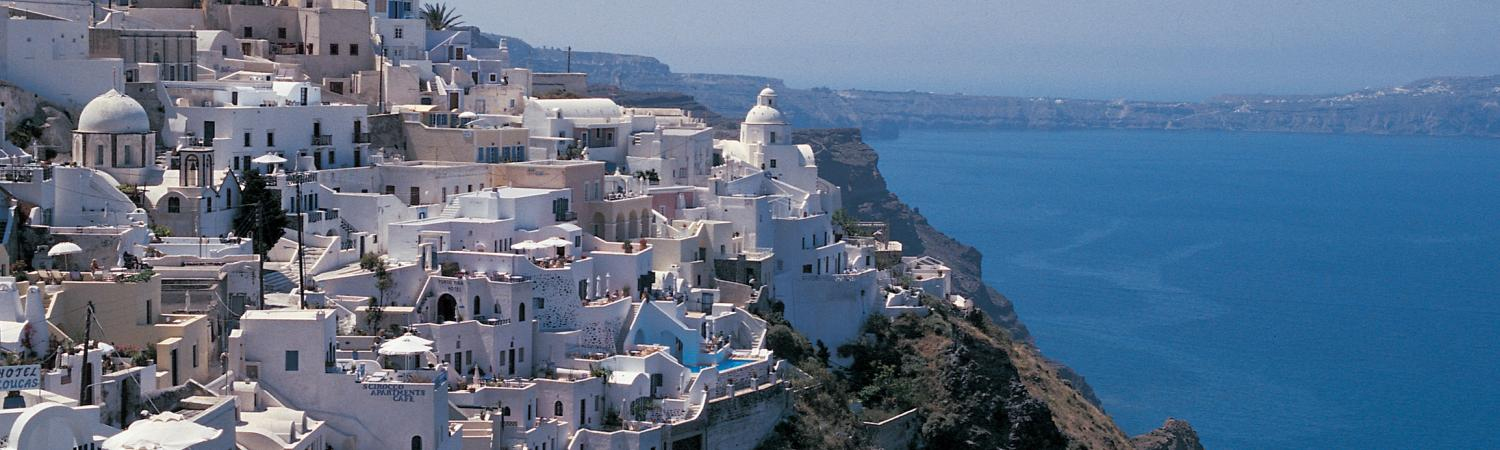 The unique white building of Santorini.