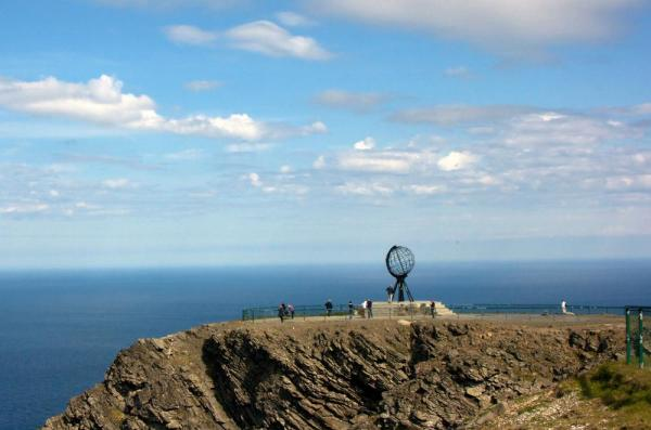 Sculpture on the North Cape of Norway.