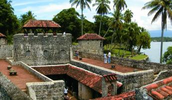 The Spanish fort Castillo de San Felipe de Lara in Guatemala.