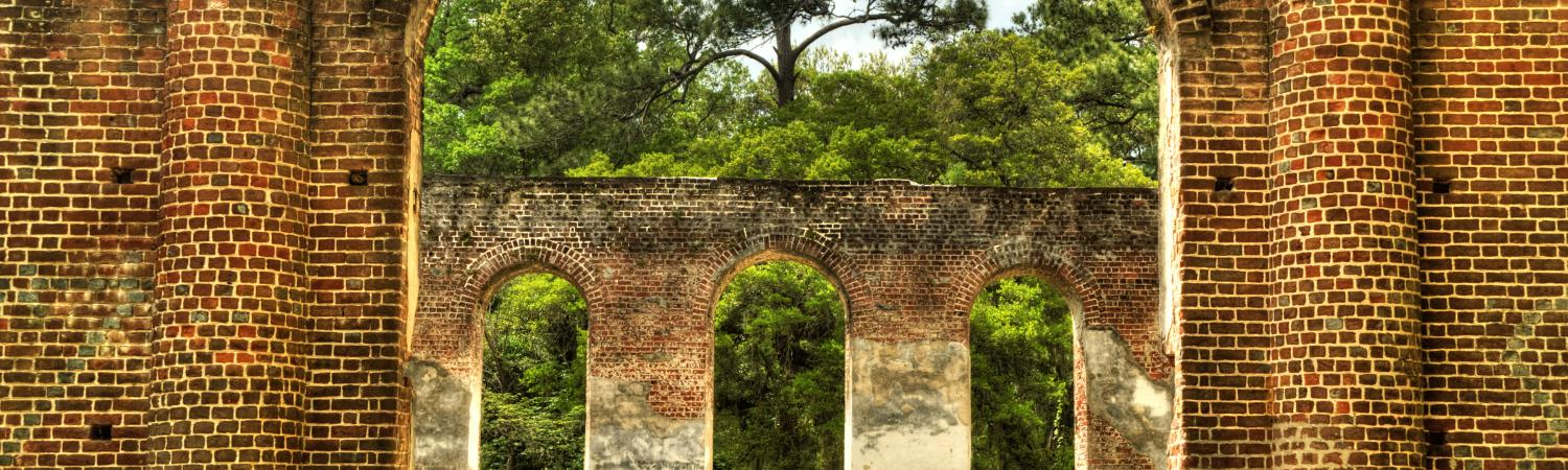 Old Sheldon Church Ruins in South Carolina.