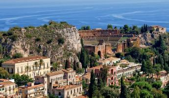 Sail to the stunning city of Taormina, Sicily.