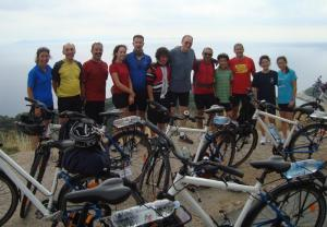 The group with our bikes