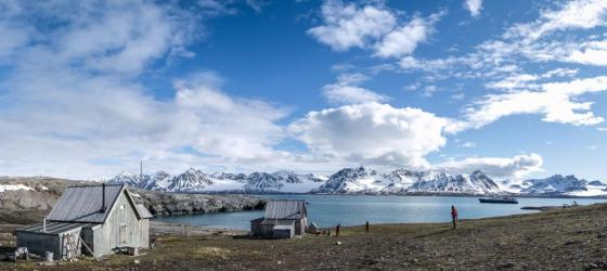 A single home in the desolate arctic.