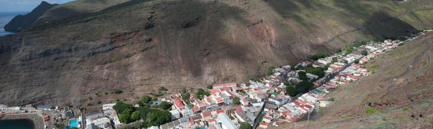 A settlement on the island of Saint Helena.