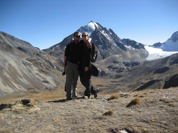 Hiking to the peaks in Bolivia