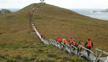 Take a walk to the Cape Horn Albatross Monument.