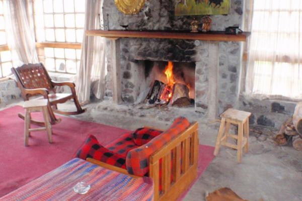 Warm by the fire at Hacienda El Tambo