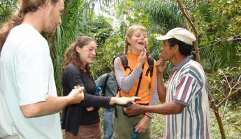 Learn about the environment and culture of the Bolivian rainforest from Quechua guides at Chalalan Lodge