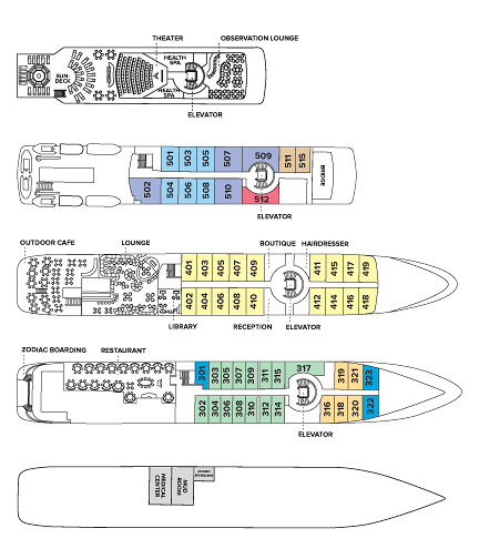 Deck plan for the National Geographic Orion