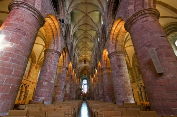 Explore the incredible arches of St. Magnus Cathedral.