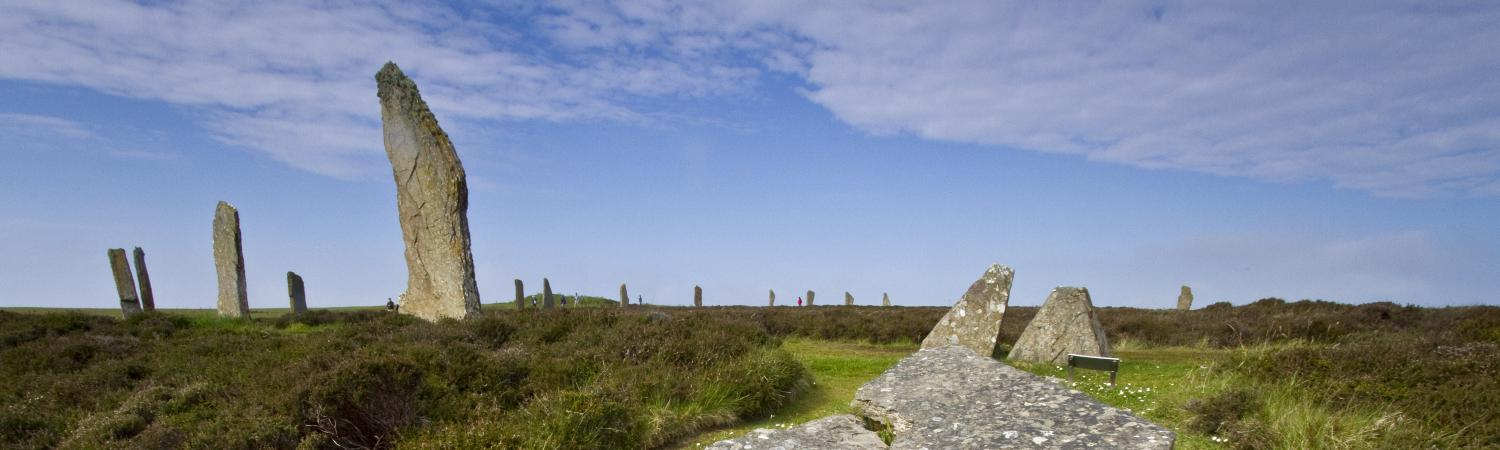 Ring of Brodgar is a unique stone circle in Scotland.