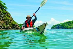 Kayaking through the waters of Costa Rica.