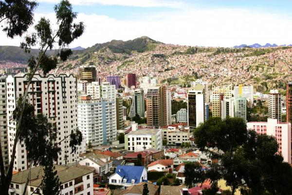 Beautiful and expansive La Paz, Bolivia