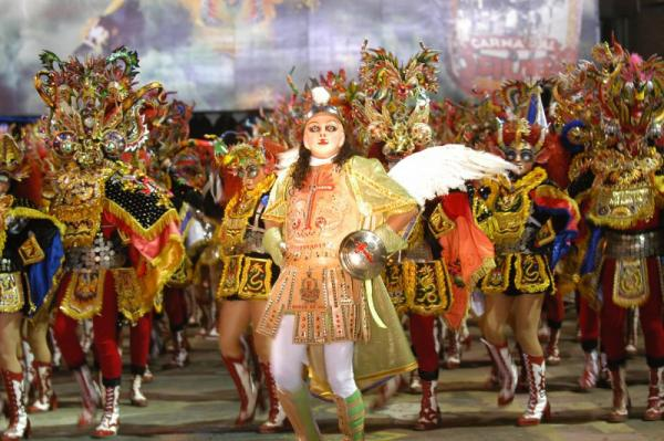 Dancers in the annual festival in Oruro