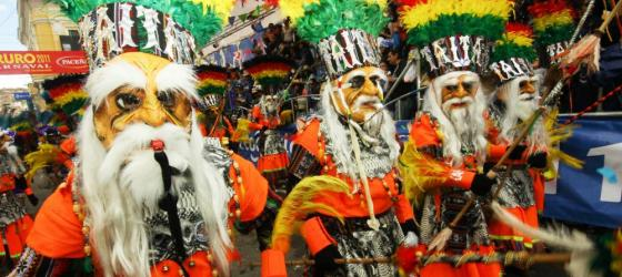 Folk dancers in the Oruro Festival