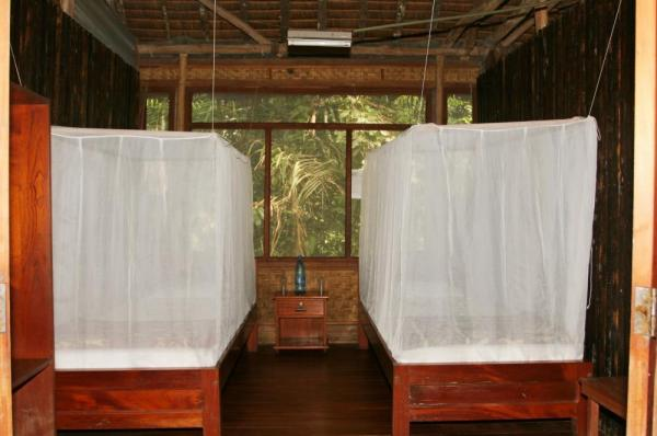 Comfortable accomodations in the rainforest at Chalalan Ecolodge